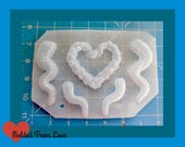 SALE Deluxe 5 Cavity Detailed Octo-Tentacles  Handmade Plastic   Resin  Mold