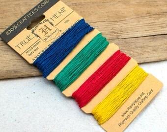Hemp Twine,  0.5mm, Shades of Topaz, Colored Hemp, Hemp Cord, Twine -CH58