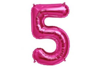 PINK Number 5 Balloon,5th Birthday Photo Prop, Number 5 Balloons,5th Bday Party, Five Years, 5th Anniversary, turning 5, 5years old, Hi 5