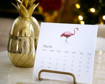 2017 Desk Calendar | Desk Calendar with Gold Stand | 2017 Desktop Calendar | Chic Calendar