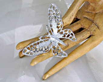 Sarah Coventry Brooch Madam Butterfly Signed Vintage Jewelry