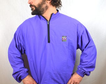 Vintage 80s Interplanetary Surf Style Rainbow Jacket Windbreaker Pullover