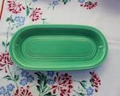 Fiesta ware Relish Utility Tray Original light Green 1930s FIESTA Homer Laughlin VINTAGE by Plantdreaming