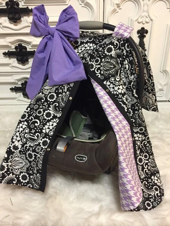 CAR SEAT COVER / carseat canopy / nursing cover / girl / carseat cover / car seat canopy / infant car seat cover / lavander / purple / black