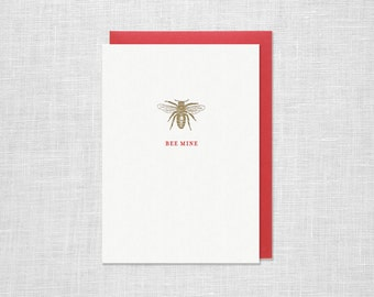 Letterpress Valentine's Day Greeting Card - Bee Mine