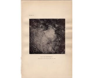 1900 MILKY WAY GALAXY print original antique celestial astronomy lithograph