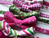 Little and Big Guy BOW TIE - Spring Easter St Patrick's Day - Pink and Green Collection - (Newborn-Adult) - Baby Boy Toddler Teen Man
