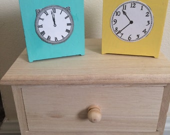 Mini Non-Functioning Clock, 18 in doll scale, Decor