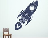 Rocket Wall Decal - Rocket Ship Decor - Boy Bedroom Decal - Space Wall Sticker