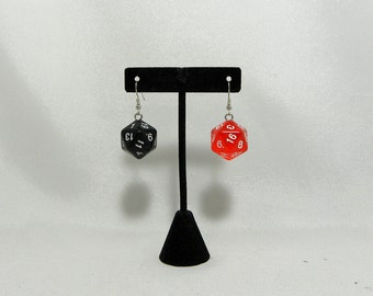 Harley Quinn inspired dice earrings