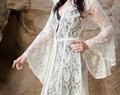 NEW Limited Edition: The Ivory Lace Bridal Priestess Cloak with Hood by Opal Moon Designs (Size XS-XXL)