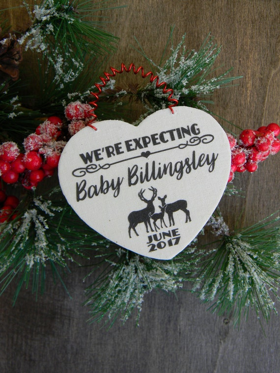 Were Expecting Christmas Ornament Personalized Pregnancy