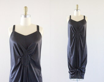 S A L E 1970's diamond cut slip dress / plus size