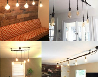 Multi Bulb Hanging Light Fixture