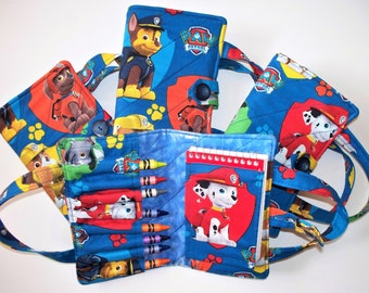 Paw Patrol,Crayon Notebook,Quilted Bag Set,Your Choice, Marshall,Chase, Rubble,Zuma,Rocky Characters,Operation Paw,German Shepard,Dalmation