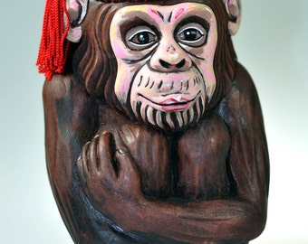 Monkey Sculpture Mini Purse