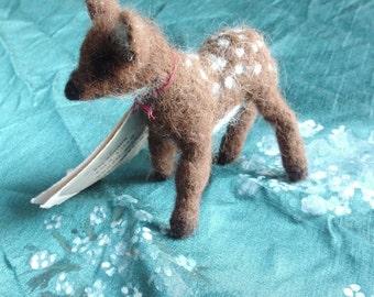 Fawn - Needle felted animal sculpture - handmade