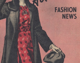 November 1938 Advance Pattern Booklet - 1930s Vintage Fashion Illustrations PDF Copy - INSTANT DOWNLOAD