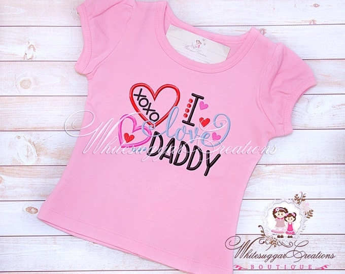 I love daddy shirt - Custom daughter Shirt - Dad's Gift - Father's Day Gift - Baby Girl Outfit - Sample Sale