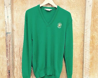 Vintage Italian Open Golf V-Neck Sweater by Lancer USA - M/L