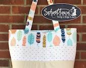 Patchwork Tote Bag Large handbag purse diaper bag - sewing tutorial pattern - PDF INSTANT DOWNLOAD