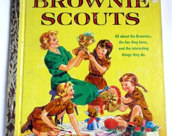 "Little Golden Book First Addition ""BROWNIE SCOUTS"""