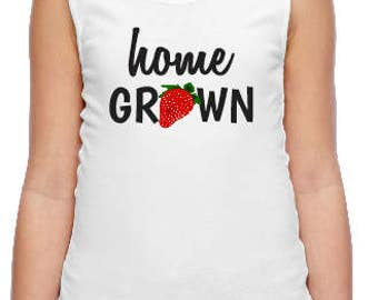 Home Grown Girls Tank  with Optional Personalization on Back
