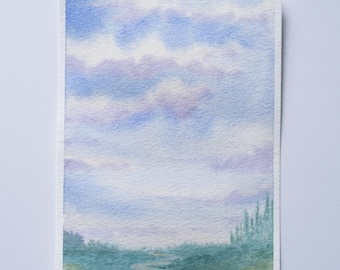 Watercolor Landscape Original Watercolor Painting Landscape Watercolor Painting Watercolor Art Watercolor Painting Landscape Art