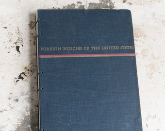 1954 FOREIGN POLICY Vintage Notebook Journal