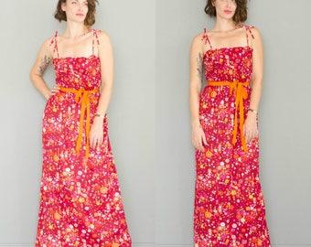 Vintage 1970's Novelty Print Holly Hobbie Dress