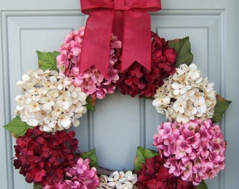 Valentine Wreath - Door Wreath - Hydrangea