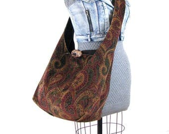 Over Shoulder Bag - Large Crossbody Bag for Women - Crossbody Hobo Bag - Vegan Bag - Slouch Bag - Bohemian Bag - Crossbody Purse - Boho Bag