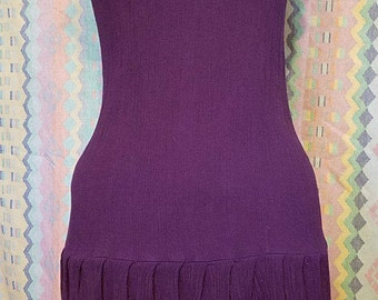 Purple dress, 20s, flapper dress