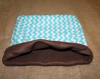 XLARGE  Blue Chevron pouch for small pets
