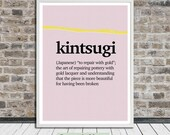 Kintsugi, Kintsukuroi, Japanese, Wall Art, Word Art, Printable Art, Instant Digital Download