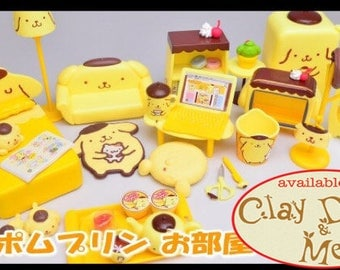 Re-ment POMPOM PURIN candy toy/Pom Pom Purin room rement/Rement Pom Pom Purin room/Sanrio re-ment/Pompom purin re-ment miniatures