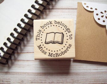Teacher Stamp, This Book Belongs To, From the Library Of , Back to School