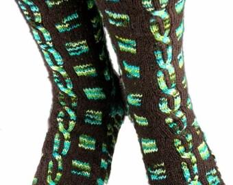 KNITTING PATTERN for Torcello Bridge Socks - Sock pattern - Charted pattern - digital download - Colorwork pattern - Stranded knitting
