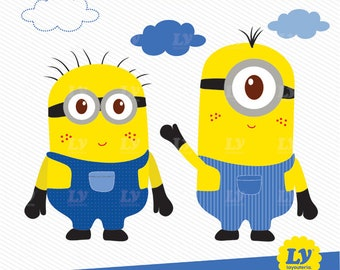 Minions Clipart, Minions, Minions Party, Minions Instant Download, Minions Illustration, Cute Minions, Birthday Minions, Minions Scrapbook