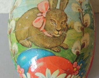 West Germany Easter Paper Machie Egg