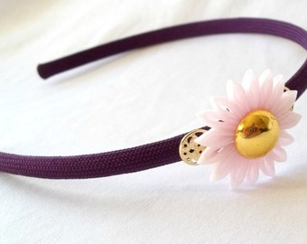 Kawaii Purple and Pink Chiffon Kanzashi Flower Headband