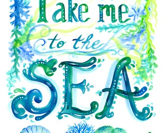 Sea Art Instant Download art beach decor Beach nautical ocean sea print