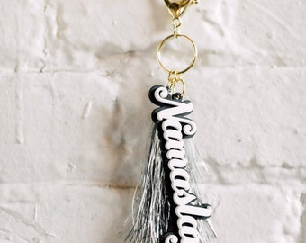 Namaslay Keychain, 1 CT with Gold Key Lobster Claw Clasps and Key Ring