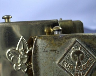 Vintage Boy Scout / Cub Scout Belt Buckles - Lot of 4 - Solid Brass Buckles Made in the USA