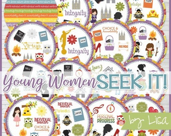 Young Women SEEK IT Match Game, New Beehive Gift, YW Camp Games, Birthday Gift Idea, lds Printables - Printable Instant Download by Lisa