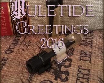 YULETIDE GREETINGS 2016 Perfume Oil Samples / 1ml samples / Vegan perfume oil / Christmas Perfume