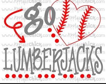 Go Lumberjacks Baseball SVG Clipart