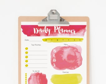 Daily Planner Printable - Flamingo Planner Pages - To Do List Planner Printable - Digital Planner PDF Download - Daily Planner Flamingo art