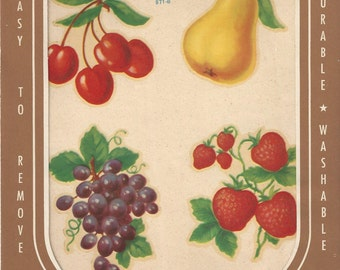 Vintage Meyercord Fruit Decals (871-B), 1970s