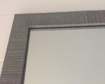 Custom Grasscloth Mirror